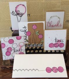 PaperArtsy: 2015 #16 Pink Spots {By Jo Firth-Young}