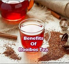Rooibos Tea (pronounced Roy-boss) or Redbush is a smooth, caffeine-free herbal tea originating from Africa. Whilst it's popularity in Britain has grown rapidly over the last few years, compared with other teas it is still relatively unknown.  Rooibos Tea for centuries indigenous Bushmen in the region harvested the leaves for use as herbal remedies to treat a variety of different ailments. #health #benefits #of #rooibos #tea Herbal Tea Benefits, Health Benefits, What Is Rooibos Tea, Redbush Tea, Stress On The Body, Tea Recipes, Herbal Remedies, Caffeine, Britain