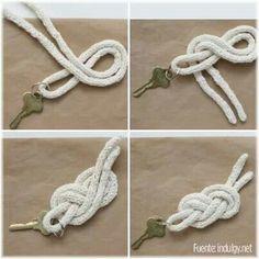 Llavero con nudo de marinero