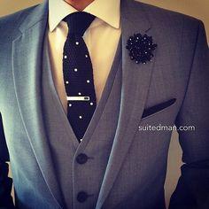 Outfit details at SuitedManStyle.com | Suit by @hugo_sandiego | Accessories by SuitedMan.com | #suitup @SuitedManStyle