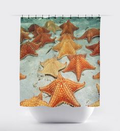Star fish curtains, Bed and Bath, shower curtains, bathroom curtain, home decor, bathroom decor, surfing,sunset curtains, ocean curtains. by BigWaveClothingCo on Etsy
