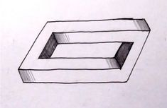 How To Draw The Impossible Penrose Rectangle - Cool Optical Illusion (+p...
