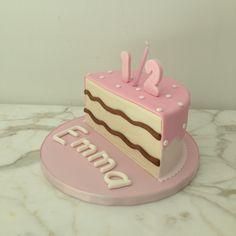 Pink half birthday cake: 1/2, 6 months, baby, half cake