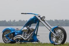 speedtrix harley davidson chopper custom bike one off show bike calandar bike revtech frame gas tank fenders custom