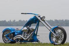 speedtrix harley davidson chopper custom bike one off show bike calandar bike revtech frame gas tank fenders custom