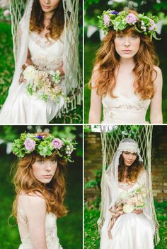 ginger hair and floral crowns