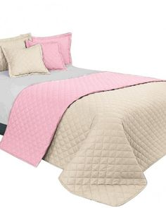 Bezovo ruzove obojstranne prikryvky na manzelsku postel Comforters, Blanket, Bed, Furniture, Home Decor, Creature Comforts, Quilts, Decoration Home, Stream Bed