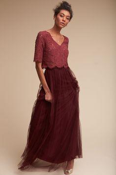 Libby Top & Louise Skirt from @BHLDN (Top: Cinnamon Rose; Bottom: Cabernet)