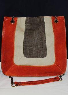 d2ecd86d8d7c nwt BCBG Max Azria Leather   Linen Handbag. Future Fashion