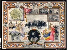 Romania Gallery / In Memory of the Great Union of Romania Postcard Romanian Revolution, Historical Pictures, World War I, Vintage World Maps, Gallery, Day, Painting, Royals, Moldova