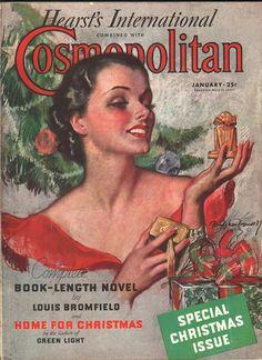 Cosmopolitan magazine, JANUARY 1936 Artist: Bradshaw Crandell