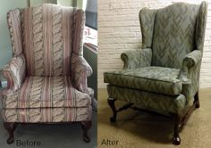 It's amazing how new fabric and a little new foam can completely change the look and feel of your chair!