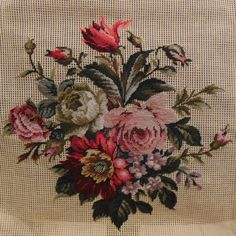 Preworked Handmade Needlepoint Tapestry FLORAL Petitpoint Canvas #5 by Poman International, Inc. Condition:NEW. Purchased my needlepoint canvases in the mid 90's. Part of my stash that I'm letting go of.