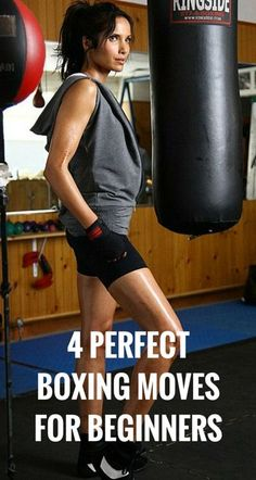 4 perfect moves for women who just started boxing for fitness. #boxing #fitness…