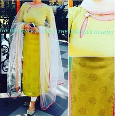 simple yet gorgeous. Churidar Designs, Kurti Neck Designs, Dress Neck Designs, Blouse Designs, Salwar Pattern, Kurta Patterns, Dress Patterns, Indian Attire, Indian Wear