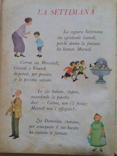 La settimana Italian Language, Primary School, Problem Solving, Vintage Posters, Nostalgia, Homeschool, Study, Scrapbook, Education