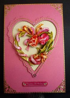 3D handcut and contoured card by  Allaurdesigns.ca
