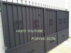 Portail Fer ROSE Coulissant Avec Portillon Incorporé M Portail - Porte placard coulissante et portail avec portillon intégré