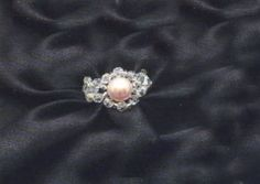 Ring pink pearl jewelry