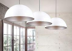 Lampa Captown white&silver lampa wisząca duża MAXlight lampy - oświetlenie domu