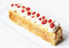 strawberry and orange blossom millefeuille