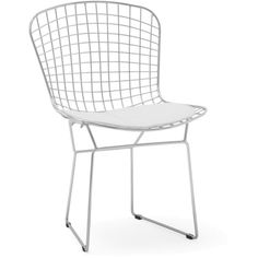 WIRE Dining chair via Polyvore featuring home, furniture, chairs, dining chairs, wire furniture, wire chair and wire dining chairs