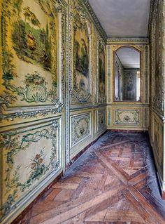 Cabinet des poètes, Versailles. 18th century #rococo