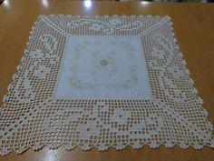 Crochet Boarders, Crochet Squares, Crochet Motif, Crochet Doilies, Crochet Lace, Crochet Stitches, Crochet Patterns, Fillet Crochet, Diy And Crafts