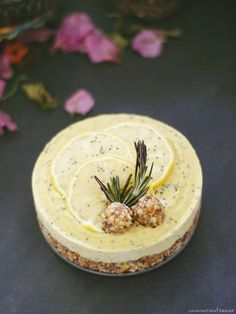 Raw Lemon Ginger Chia Cheesecake (Free From: gluten & grains, dairy, eggs, and refined sugar)