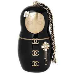 156f1fe35539 Chanel Black Plexiglass Matryoshka Doll Minaudiere