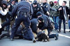 Saturday's first arrest.