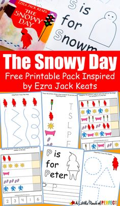 Free The Snowy Day Printable Pack
