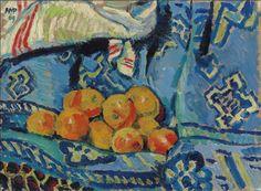 Hermann Max Pechstein (German, 1881-1955) - Still life with fruit, 1909 - Oil on canvas