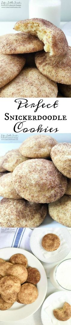 ? These Perfect Snickerdoodle Cookies have only 8 ingredients, and make the most aromatic, chewy and delicious cookies with crisp edges. They are such a satisfying and tasty cookie, expect them to be gone as soon as you make them!