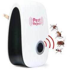 New Hot Electronic Ultrasonic Pest Repeller Indoor Anti Pest Bug Control Repeller Rat Mosquito Killer Bug Reject EU US AU Plug