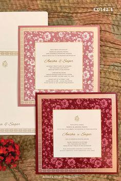 Indian Wedding Invitation Cards, Wedding Invitation Card Design, Indian Wedding Cards, Luxury Wedding Invitations, Unique Invitations, Wedding Card Design, Wedding Stage Decorations, Indian Wedding Photography, Biryani