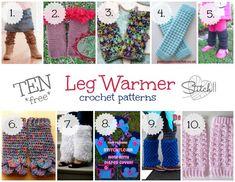 10 Free Leg Warmer Crochet Patterns