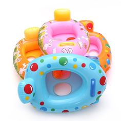 Child Kinds Cartoon Baby Swimming Ring Water Sprots Fashional Floating Rings 0-6 Years Old  Rabbit Dot Pattern