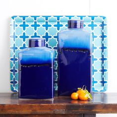W7131Blue Ombre Jar – Short Decor--i really like both of these.---pinned by #conceptcandieinteriors #homedecor