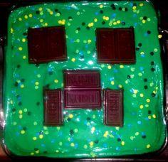 Looks sweet as well but definitely looks dilishus. Minecraft Birthday Cake, Minecraft Cake, Cool Birthday Cakes, Boy Birthday, Birthday Parties, Birthday Ideas, Minecraft Ideas, Mindcraft Party, Creeper Cake
