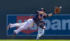 Brian Dozier lays out for the catch Blog | Rempel Design & Photo | Professional Sports Photography and Web Design