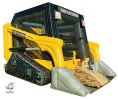 skid loader bounce house for birthday party