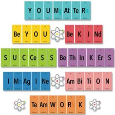 Discover recipes, home ideas, style inspiration and other ideas to try. Chemistry Classroom, Teaching Chemistry, Classroom Rules, Classroom Design, Future Classroom, School Classroom, Classroom Ideas, Periodic Table Words, Periodic Table Of The Elements