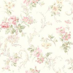 Fairwinds Studios Floral Acanthus Trail Wallpaper Pink Print Wallpaper, Home Wallpaper, Fabric Wallpaper, Pattern Wallpaper, Embossed Wallpaper, Backgrounds Wallpapers, Printable Scrapbook Paper, Decoupage Paper, Acanthus