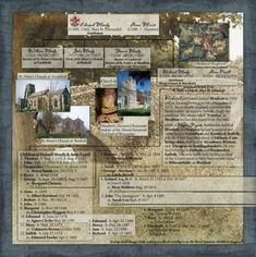 A wonderful way of incorporating images into a family tree scrapbook page. Genealogy Humor, Genealogy Sites, Family Genealogy, Genealogy Forms, Heritage Scrapbook Pages, Scrapbook Layouts, Vintage Scrapbook, Scrapbooking Ideas, Digital Scrapbooking