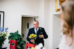Father of the bride | Andrew + Rachel's wedding at home | Wedding Photography Northern Ireland #proud #FOB