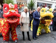 Celebration: London's Chinatown was awash with colour as the Year of the Sheep began...