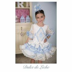 Trajes de flamenca Gala Gonzalez, Girls Dresses, Flower Girl Dresses, Flamenco Dancers, Spanish Fashion, Cute Girl Outfits, Girl Doll Clothes, Boy Fashion, Pretty Dresses