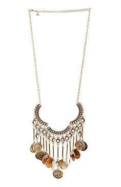 Coin Chandelier Necklace