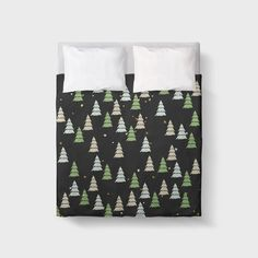CHRISTMAS Tree Green  DUVET COVER / Comforter cover/ 3 sizes available, king, queen, twin /bedding/ Christmas Home Decor, Xmas bedding